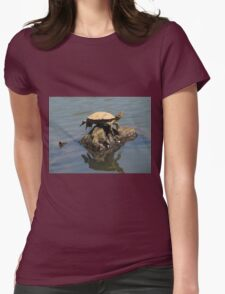Turtle balancing act Womens Fitted T-Shirt