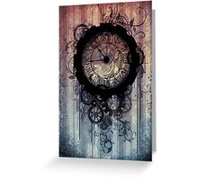 steampunk clock Greeting Card