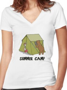 Summer Camp #10 Women's Fitted V-Neck T-Shirt