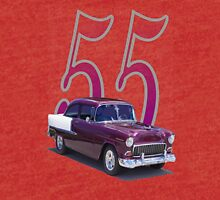 55 Chevy - Basic with Picture Tri-blend T-Shirt
