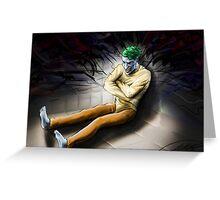 Joker in Asylum. Batman Greeting Card