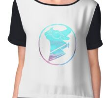 Cow Chop Water colour Logo Chiffon Top
