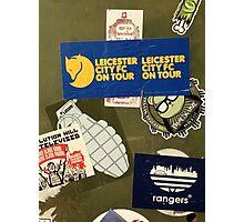 Leicester City on Tour Urban Graffiti Photographic Print
