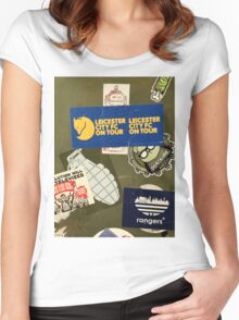 Leicester City on Tour Urban Graffiti Women's Fitted Scoop T-Shirt