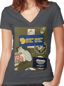 Leicester City on Tour Urban Graffiti Women's Fitted V-Neck T-Shirt