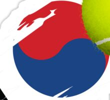 Korean Tennis Flag Sticker