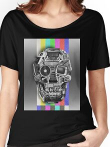 retro tech skull Women's Relaxed Fit T-Shirt