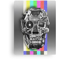 retro tech skull Canvas Print