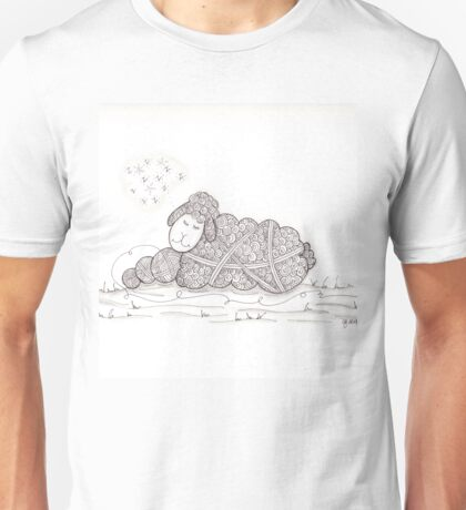 Tangled Sleepy Sheep Unisex T-Shirt