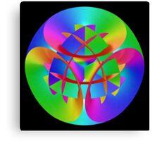 Fractal Rainbow Mandala Canvas Print