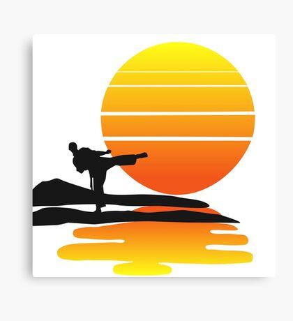 Karate at Sunset Canvas Print