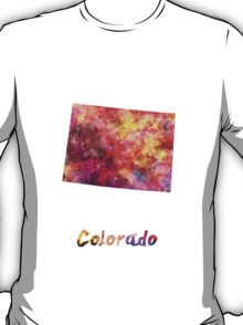 Colorado US state in watercolor T-Shirt