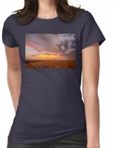 Colorado Eastern Plains Sunset Sky Womens Fitted T-Shirt