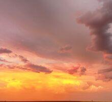 Colorado Eastern Plains Sunset Sky Sticker