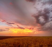 Colorado Eastern Plains Sunset Sky by wisdomwords