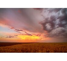 Colorado Eastern Plains Sunset Sky Photographic Print