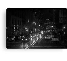 San Francisco Night I BW  Canvas Print