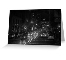 San Francisco Night I BW  Greeting Card