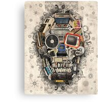 retro tech skull 2 Canvas Print
