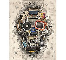 retro tech skull 2 Photographic Print