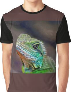 Green Water Dragon Graphic T-Shirt