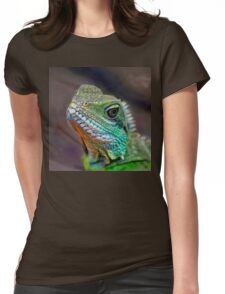 Green Water Dragon Womens Fitted T-Shirt