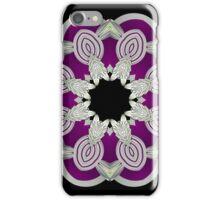 Silver Leafy Mandala iPhone Case/Skin