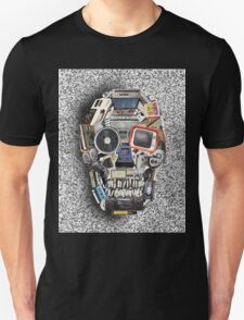 retro tech skull 3 Unisex T-Shirt
