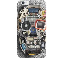 retro tech skull 3 iPhone Case/Skin