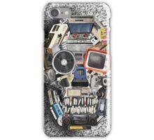 retro tech skull 3 iPhone Case/Skin