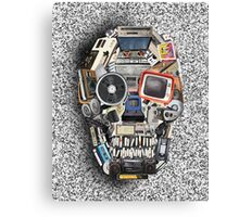 retro tech skull 3 Canvas Print