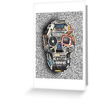 retro tech skull 3 Greeting Card