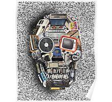 retro tech skull 3 Poster