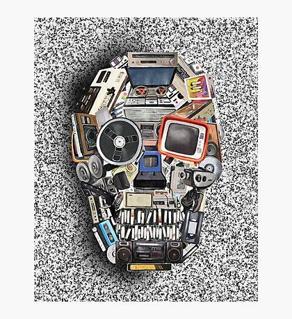 retro tech skull 3 Photographic Print
