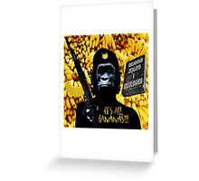 URBAN GUERILLA BANANAS  Greeting Card