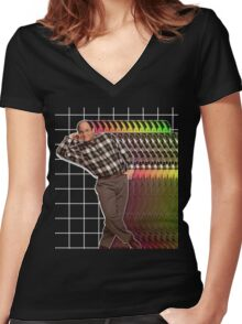 George Glitch Women's Fitted V-Neck T-Shirt