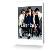 Duran Duran Vintage Greeting Card