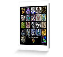 The Fractal Tarot Poster Greeting Card