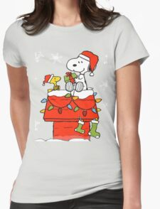 snoopy Womens Fitted T-Shirt