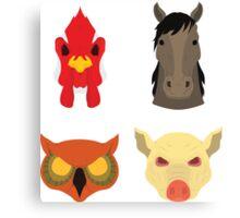 The Four Masks Canvas Print