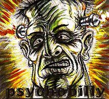 psychobilly frankenstiein by dgstudio