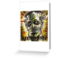 psychobilly frankenstiein Greeting Card