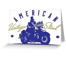 American Vintage Motorcycles Greeting Card