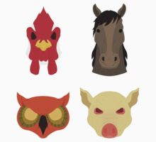 The Four Masks by Vector  T-Shirts
