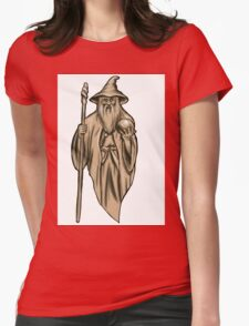 Wizard. Gendalf Womens Fitted T-Shirt