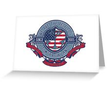 People of Tomorrowland Vintage Flags logo - USA Greeting Card