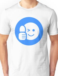 Blue Thumbs Up Smiley  Unisex T-Shirt