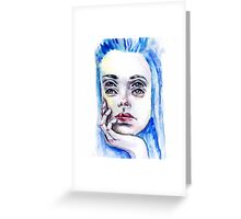 Double eyed girl Greeting Card