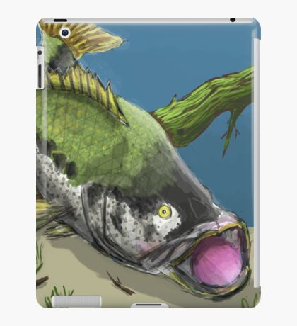 Bass fishing iPad Case/Skin
