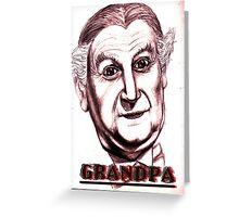 grandpa vampire Greeting Card